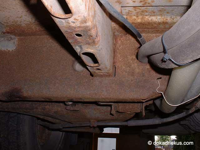 Roest aan het chassis van mijn T3 doka