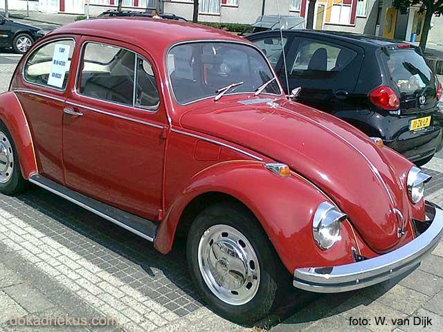 Rechterzijde opa's oude VW kever