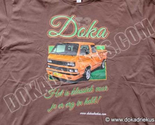 T-shirt VW T3 doka klassiek