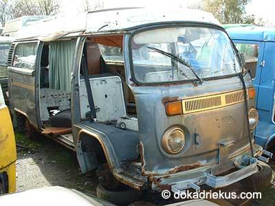 VW T2 camper op autosloperij