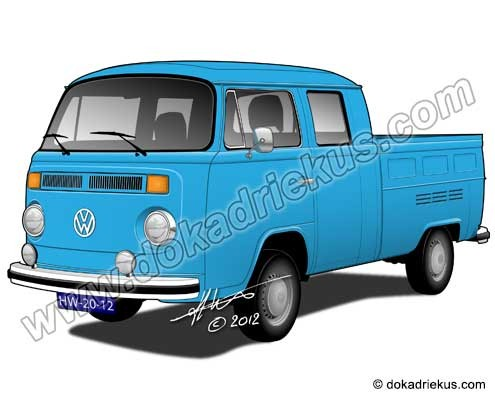 VW T2 dubbelcabine pick-up