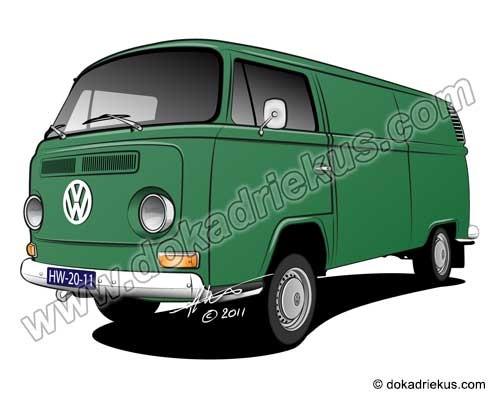 VW T2 gesloten bestelbus