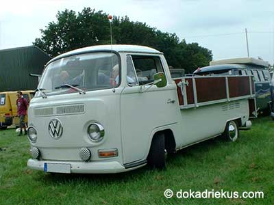 VW T2a pick-up met brede Westfalia laadbak