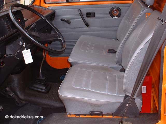 De cabine van een T3 bestelbus