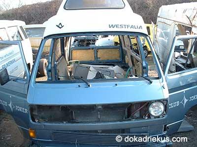 VW T3 Westfalia camper op autosloperij