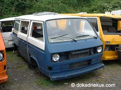 VW T3 Caravelle C op autosloperij