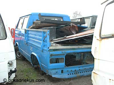 VW T3 dubbelcaine pick-up op autosloperij