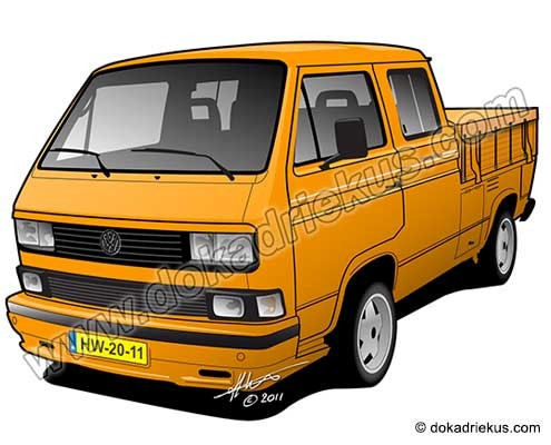 VW T3 dubbelcabine pick-up