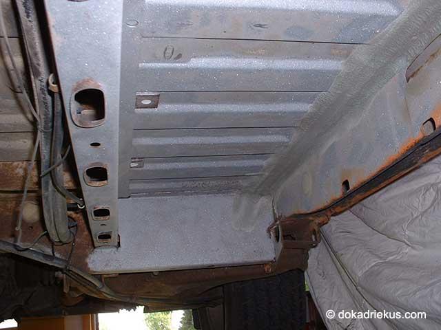Het chassis van mijn T3 wordt gestraald
