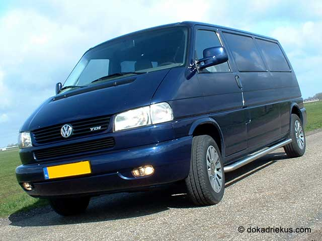 Vooraanzicht VW T4 bestelbus