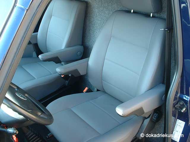 VW T4 stoelen met leder bekleed