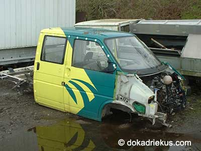VW T4 dubbelcaine pick-up op autosloperij