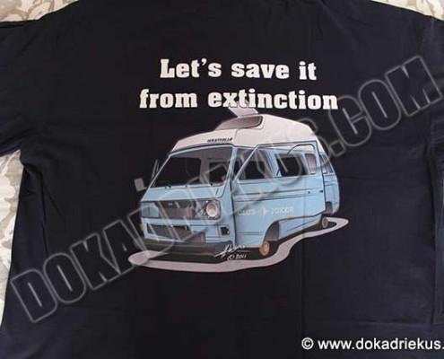 T-shirt met een VW T3 Westfalia camper