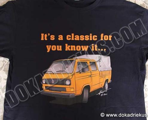 T-shirt met een VW T3 doka met huif