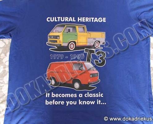 T-shirt met VW T3 bussen